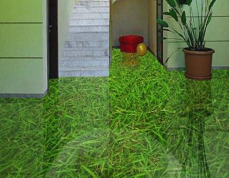 3d полы с зеленью