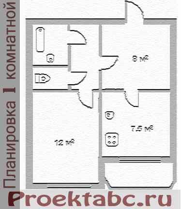 большая планировка однокомнатной квартиры 143 серия