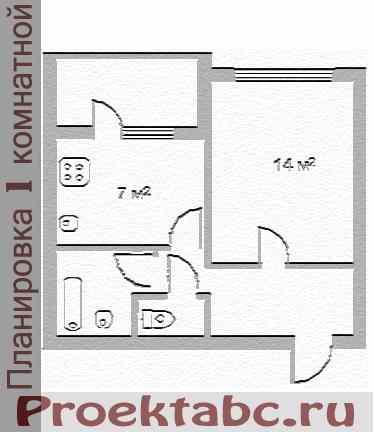 планировка однокомнатной квартиры бельцкой серии