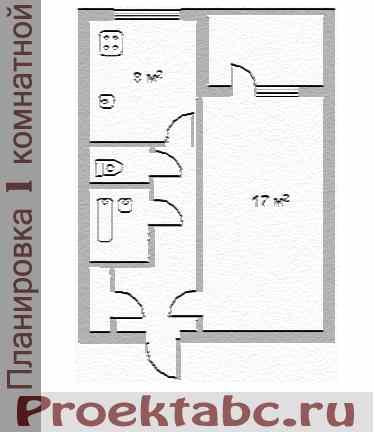 варницкая планировка однокомнатной квартиры