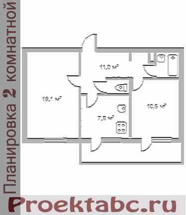 бельцкая планировка двухкомнатной квартиры
