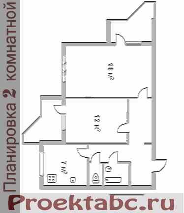 варницкая планировка двухкомнатной квартиры