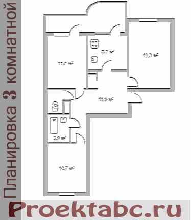 бельцкая планировка трехкомнатной квартиры