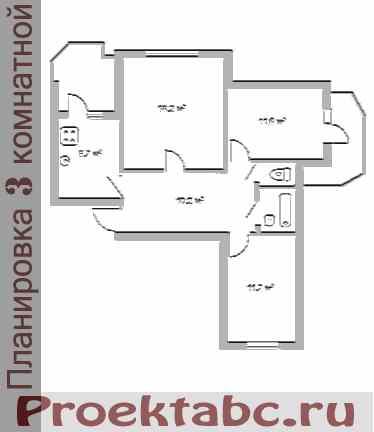 кагульская планировка трехкомнатной квартиры