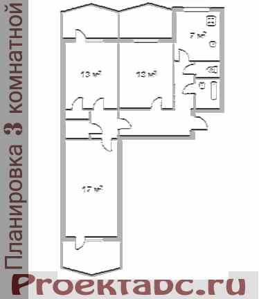 варницкая планировка трехкомнатной квартиры