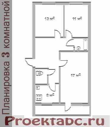 планировка трехкомнатной квартиры 102 серии