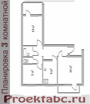 планировка трехкомнатной квартиры 143 серии