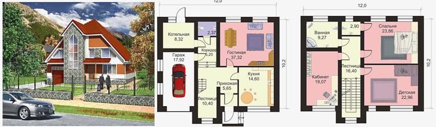 дом 10x12