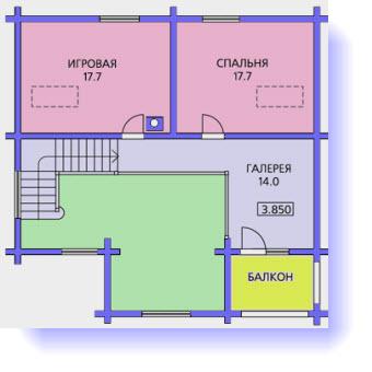 план дома 10x10
