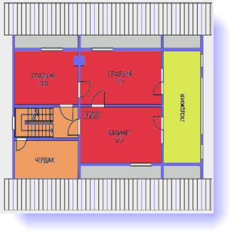 план дома12x12