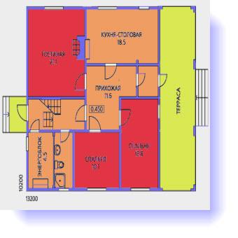 дома планы 12x12