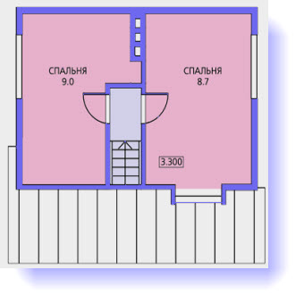 план дома 6 на 6