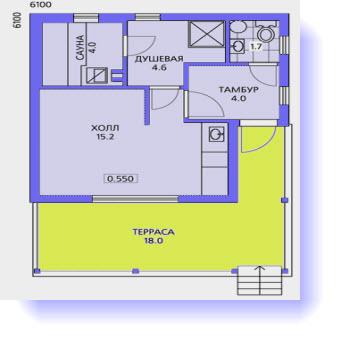 план дома 6x6