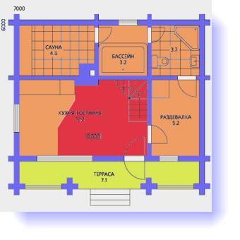 план дома 6х8 метров