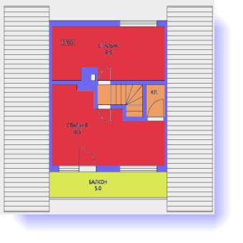 план дома 68 метров