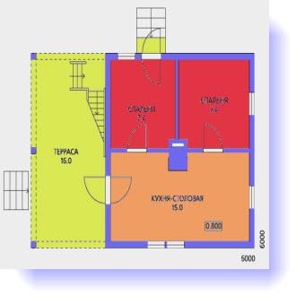 план дома 6 на 9 метров