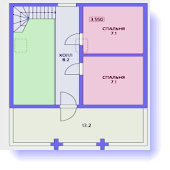 план дома 88 метров