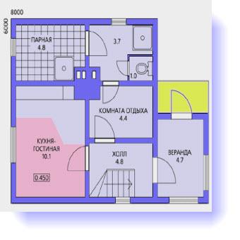 дома планы 8х8