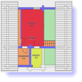 план дома 8x8