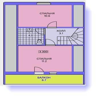план дома 9x9