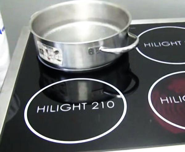 Соответствие диаметра дна посуды диаметру конфорки индукционной плиты