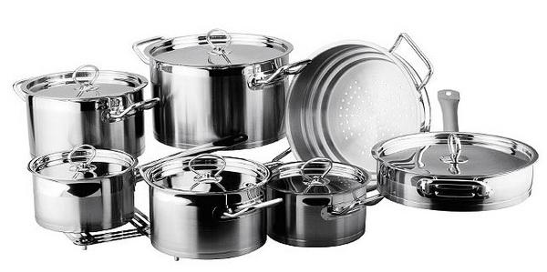 Посуда из нержавеющей высококачественной стали для индукционных плит