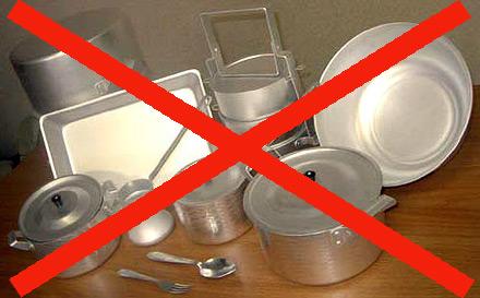 Посуда, запрещенная для применения на индукционных плитах