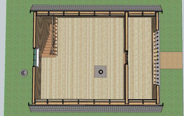 план первого этажа бесплатного проекта дома