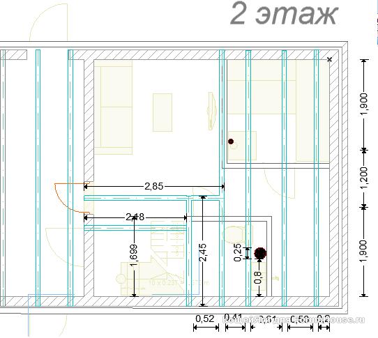 планировка второго этажа бани из пеноблоков фото