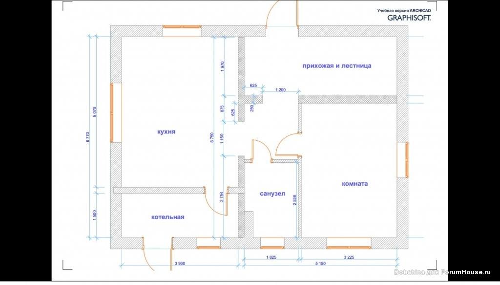 план первого этажа двухэтажного дома с баней фото