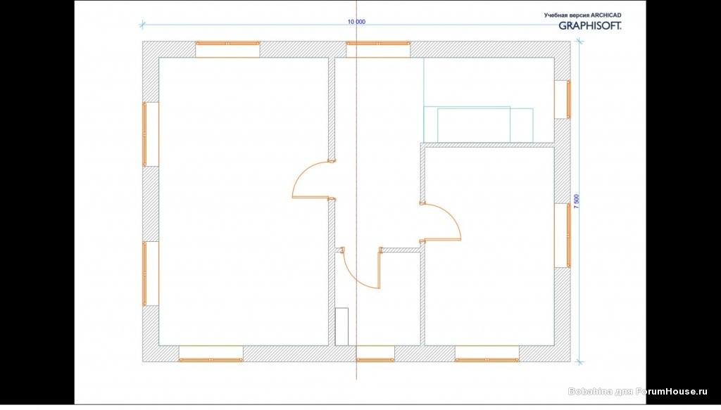 план второго этажа бани из пеноблоков фото