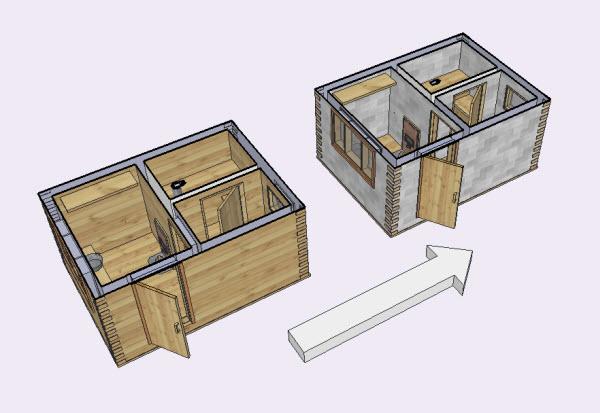 Как построить баню своими руками 6х4 27