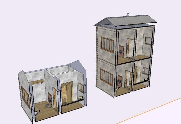 как переделать проект одноэтажной бани в двухэтажную