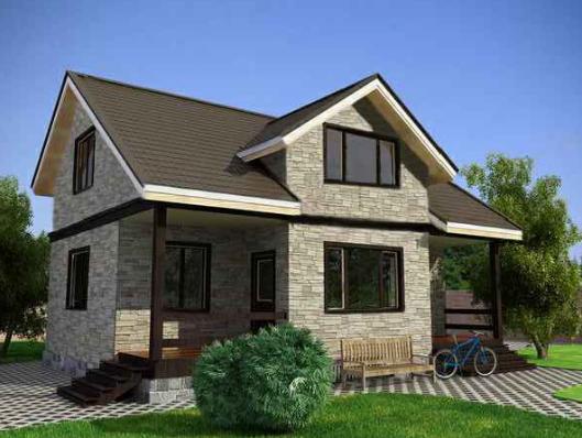 Проекты домов из кирпича Типовые проекты кирпичных