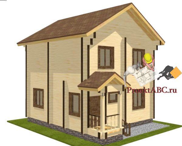 фото фасада двухэтажного коттеджа в современном стиле