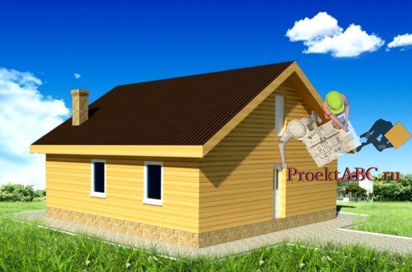 фото фасада одноэтажного дачного дома в классическом стиле