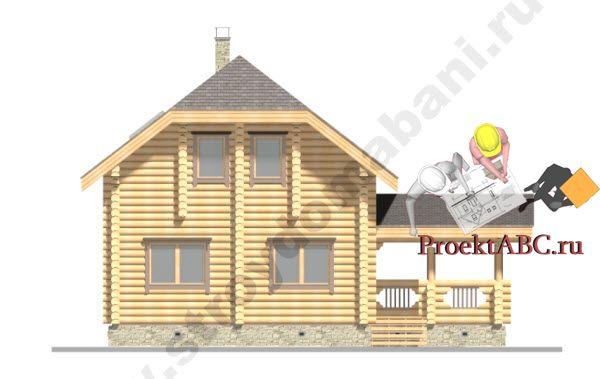 Дом 6х6 из оцилиндрованного бревна фото