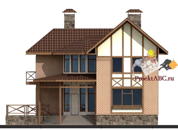 фото фасада двухэтажного дома в скандинавском стиле