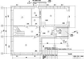 планировочное решение первого этажа 10 на 12 м, - схема