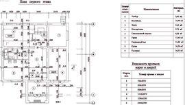 планировка 1-го этажа 12 на 14 м, - изображение