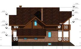 фото фасада схожего одноэтажного коттеджа с мансардой