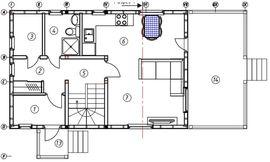 план 1-го этажа 7 на 9 м, - схема