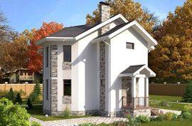 фото фасада схожего двухэтажного коттеджа