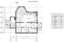 планировочное решение 1-го этажа 10 на 10 м, - изображение