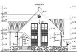 фото фасада аналогичного одноэтажного коттеджа с мансардой