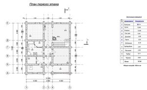 планировочное решение первого этажа 10 на 12 м,  - фотография