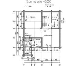 планировочное решение 1-го этажа 7 на 7 м, - фото