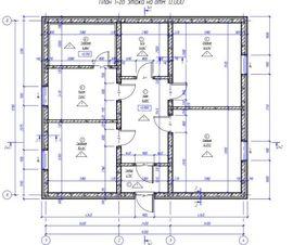 планировка 1-го этажа 9 на 9,2 м, - схема
