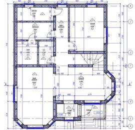 план 1-го этажа 10 на 10 м, - фотография