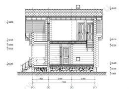 фото фасада аналогичного одноэтажного банного комплекса с мансардой
